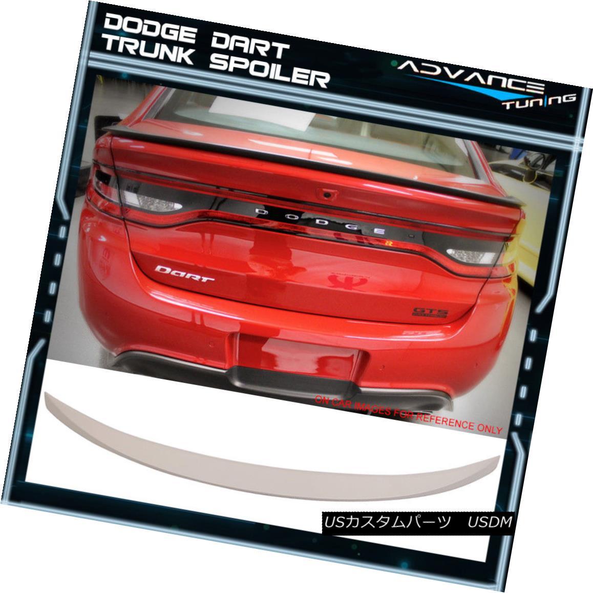 エアロパーツ Fits 13-16 Dodge Dart OE Factory Style Trunk Spoiler Painted #PW7 Bright White フィット13-16ドッジダーツOE工場スタイルトランクスポイラー塗装#PW7ブライトホワイト