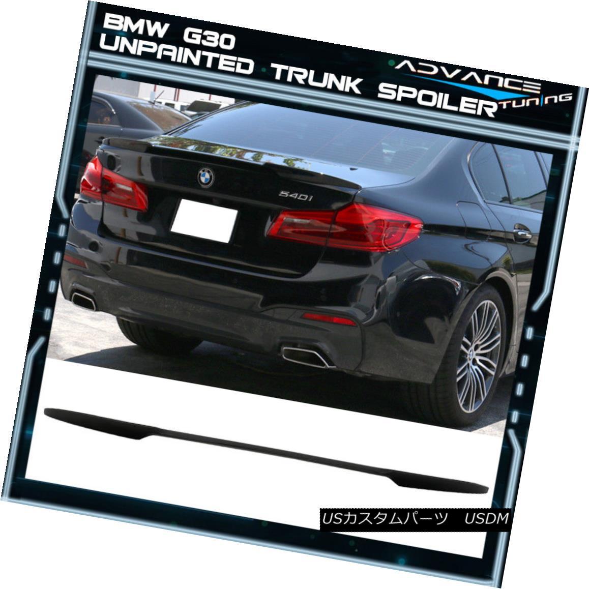 エアロパーツ 17 Up BMW 5 Series G30 Sedan 4Dr M4 V Style Trunk Spoiler Wing - Unpainted ABS 17アップBMW 5シリーズG30セダン4Dr M4 Vスタイルトランクスポイラーウイング - 未塗装ABS
