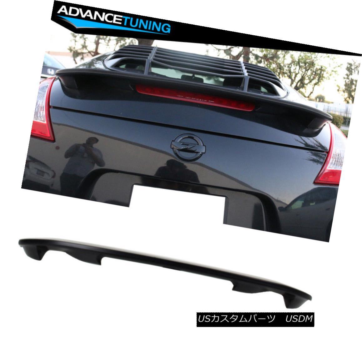 エアロパーツ For 09-18 Nissan 370Z Z34 Fairlady OE Style Unpainted ABS Black Trunk Spoiler 09-18日産370Z Z34フェアレディOEスタイル無塗装ABSブラックトランクスポイラー
