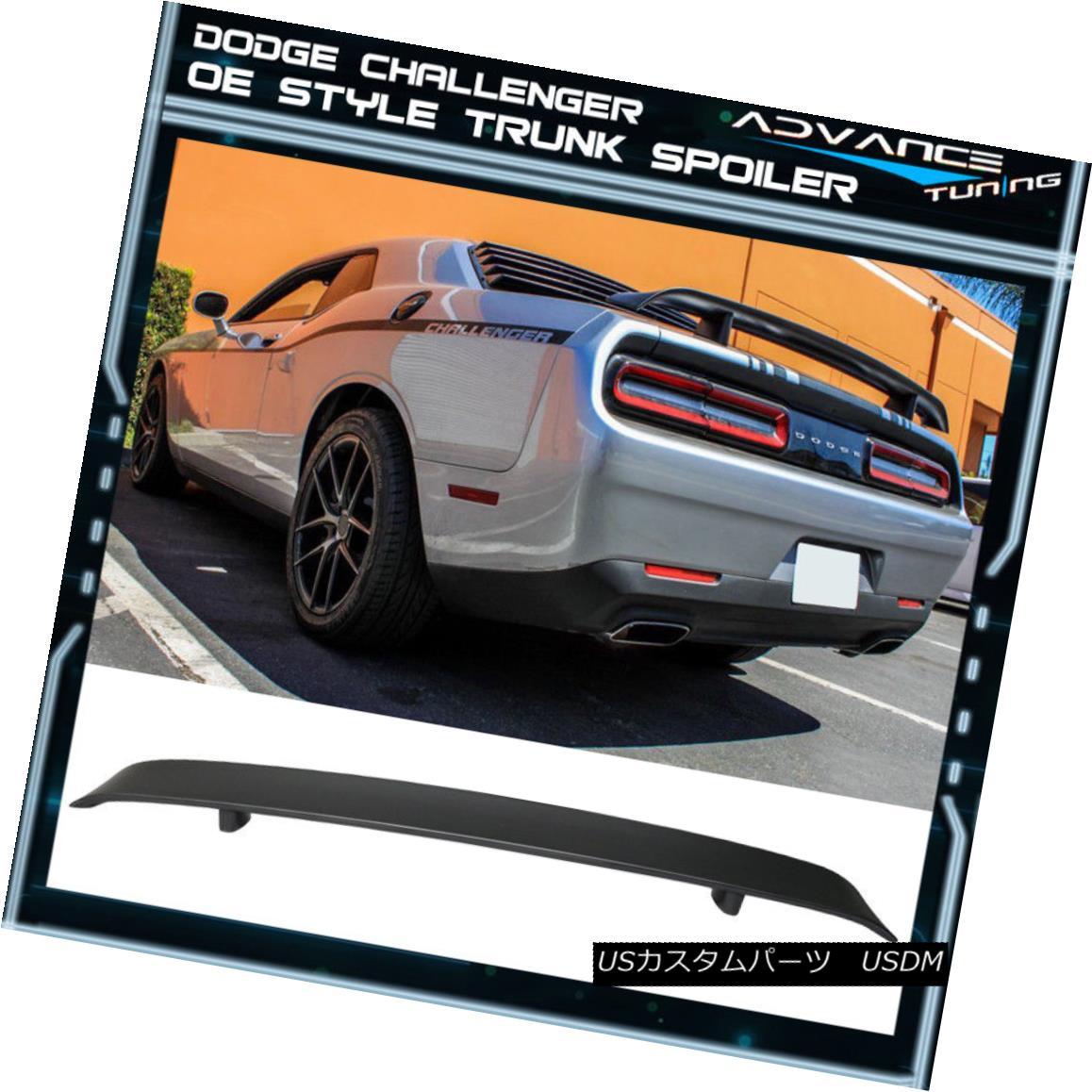 エアロパーツ 08-14 Dodge Challenger OE Style Rear Trunk Spoiler Deck Lid Unpainted ABS 08-14ダッジチャレンジャーOEスタイルリアトランクスポイラーデッキリッド未塗装ABS