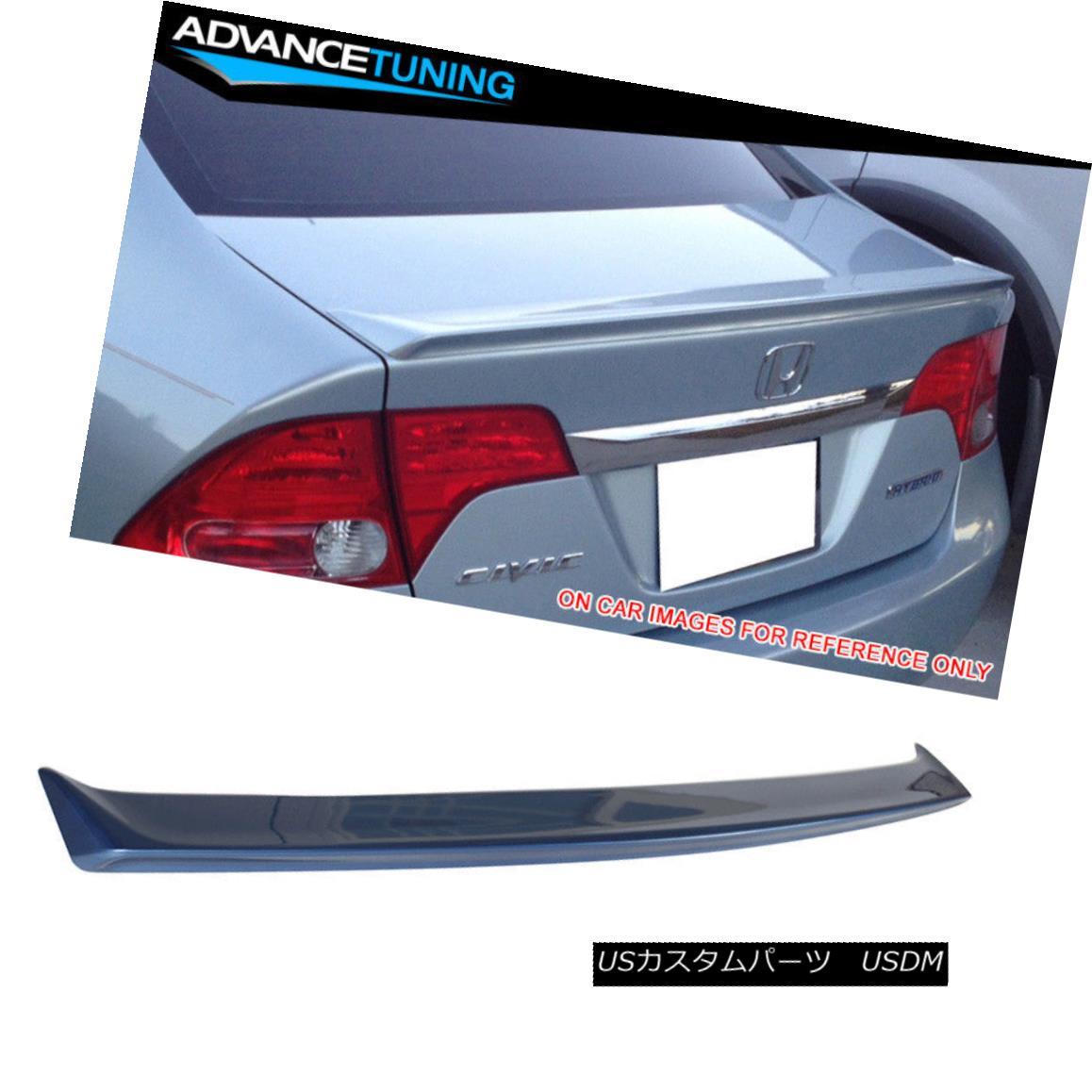 エアロパーツ Fit 06-11 Civic Performance Trunk Spoiler OEM Painted B537M Atomic Blue Metallic フィット06-11民間パフォーマンストランクスポイラーOEM塗装B537Mアトミックブルーメタリック