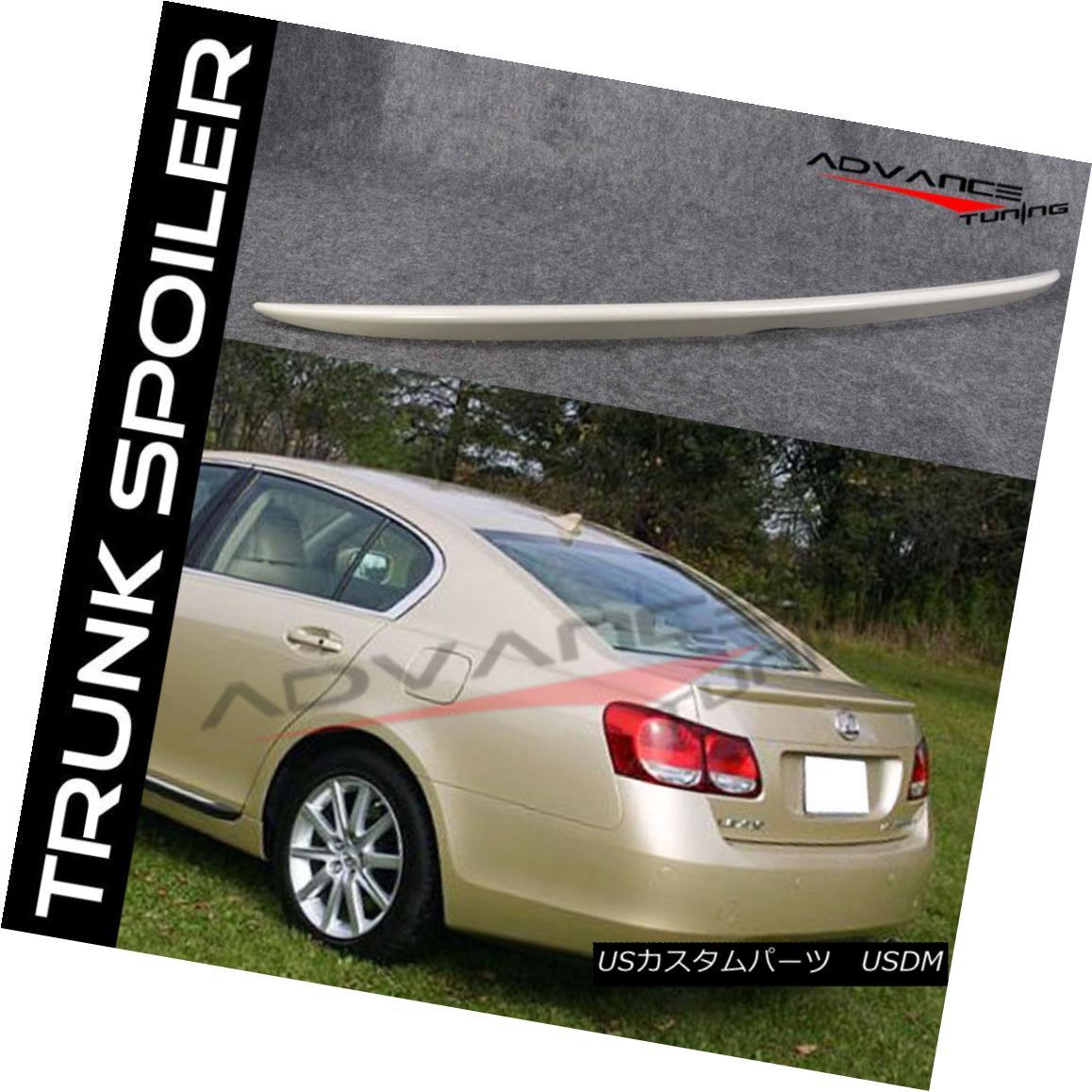 エアロパーツ Fits 06-11 Lexus GS350 GS450 OE Style Trunk Spoiler - ABS フィット6月11日レクサスGS350 GS450 OEスタイルのトランクスポイラー - ABS