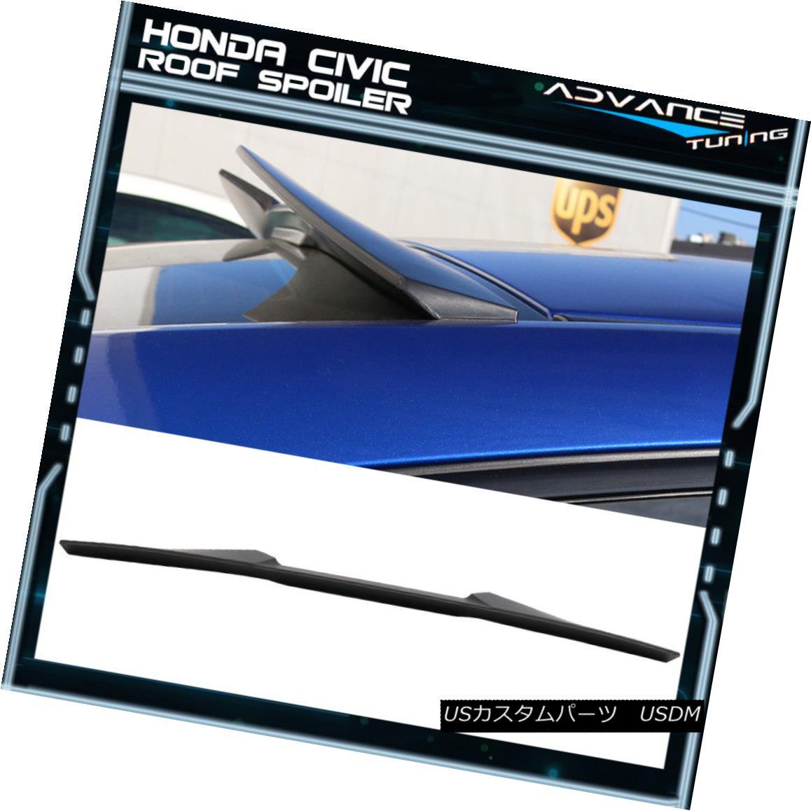 エアロパーツ 16-18 Honda Civic X 10th Gen Coupe 2Door V Style Rear Roof Spoiler Wing - ABS 16-18ホンダシビックX 10世代クーペ2Door Vスタイルリアルーフスポイラーウィング - ABS