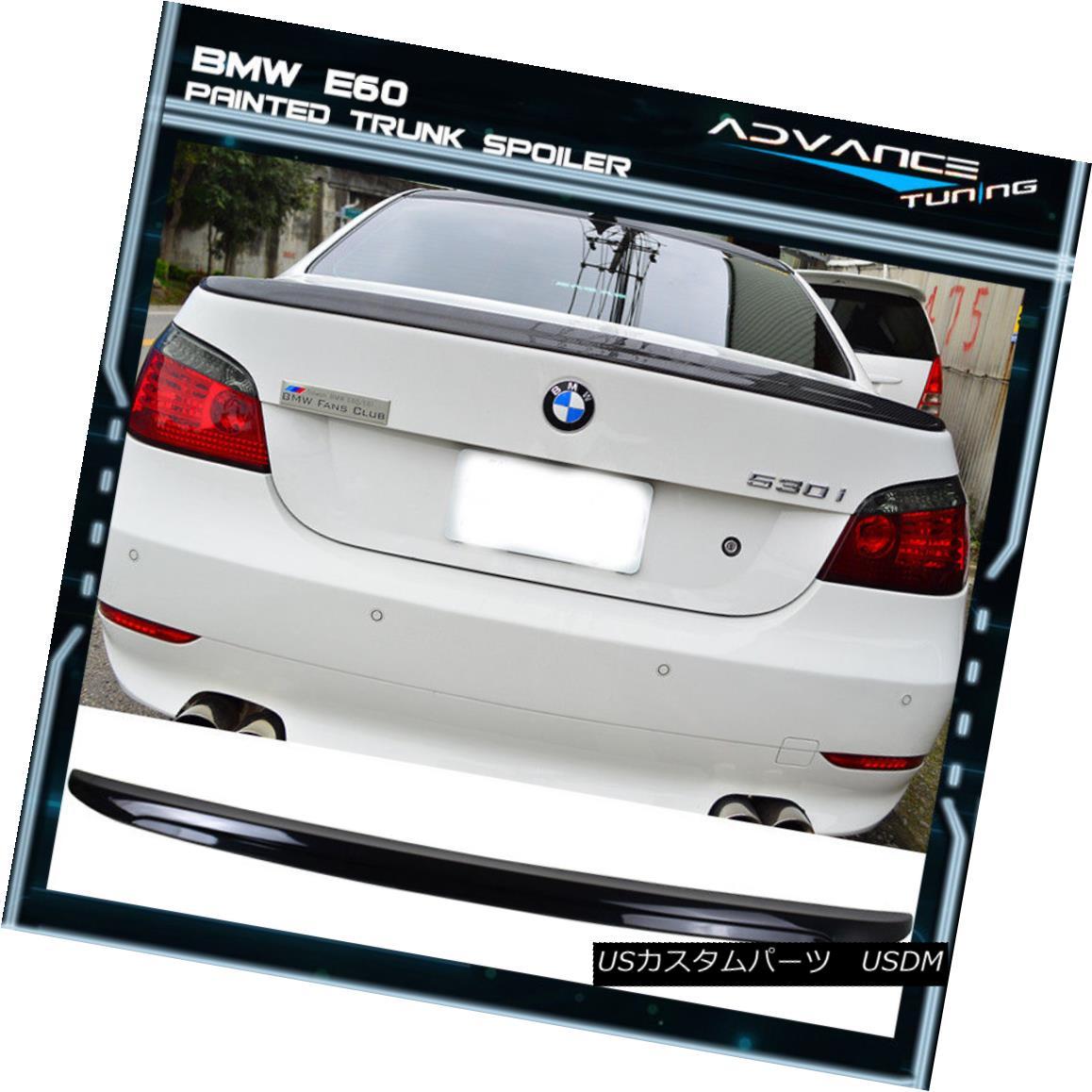 エアロパーツ 04-10 BMW E60 M5 Trunk Spoiler OEM Painted Color #416 Carbon Black Metallic 04-10 BMW E60 M5トランク・スポイラーOEM塗装カラー#416カーボンブラック・メタリック