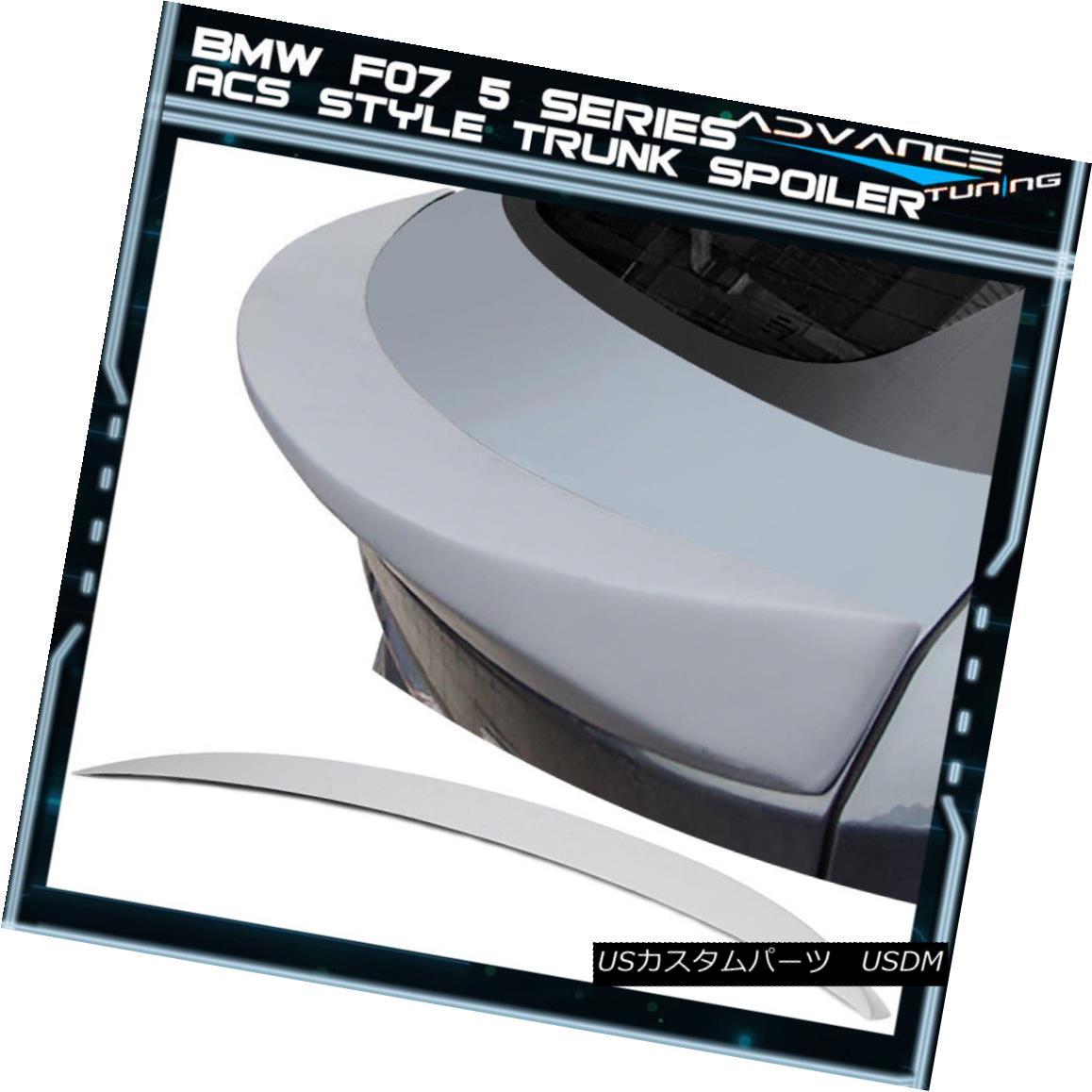 エアロパーツ 10-15 BMW F07 5 Series GT HB AC Style Unpainted Trunk Spoiler - ABS 10-15 BMW F07 5シリーズGT HB ACスタイル無塗装トランク・スポイラー - ABS