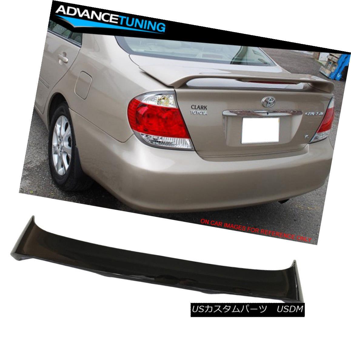 エアロパーツ Fits 02-06 Toyota Camry OE Style Trunk Spoiler Painted #202 Black フィット02-06トヨタカムリOEスタイルのトランク・スポイラー#202黒