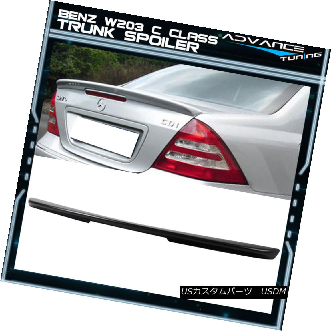01-07 Benz C Class W203 4Dr L Style Unpainted ABS Roof Spoiler