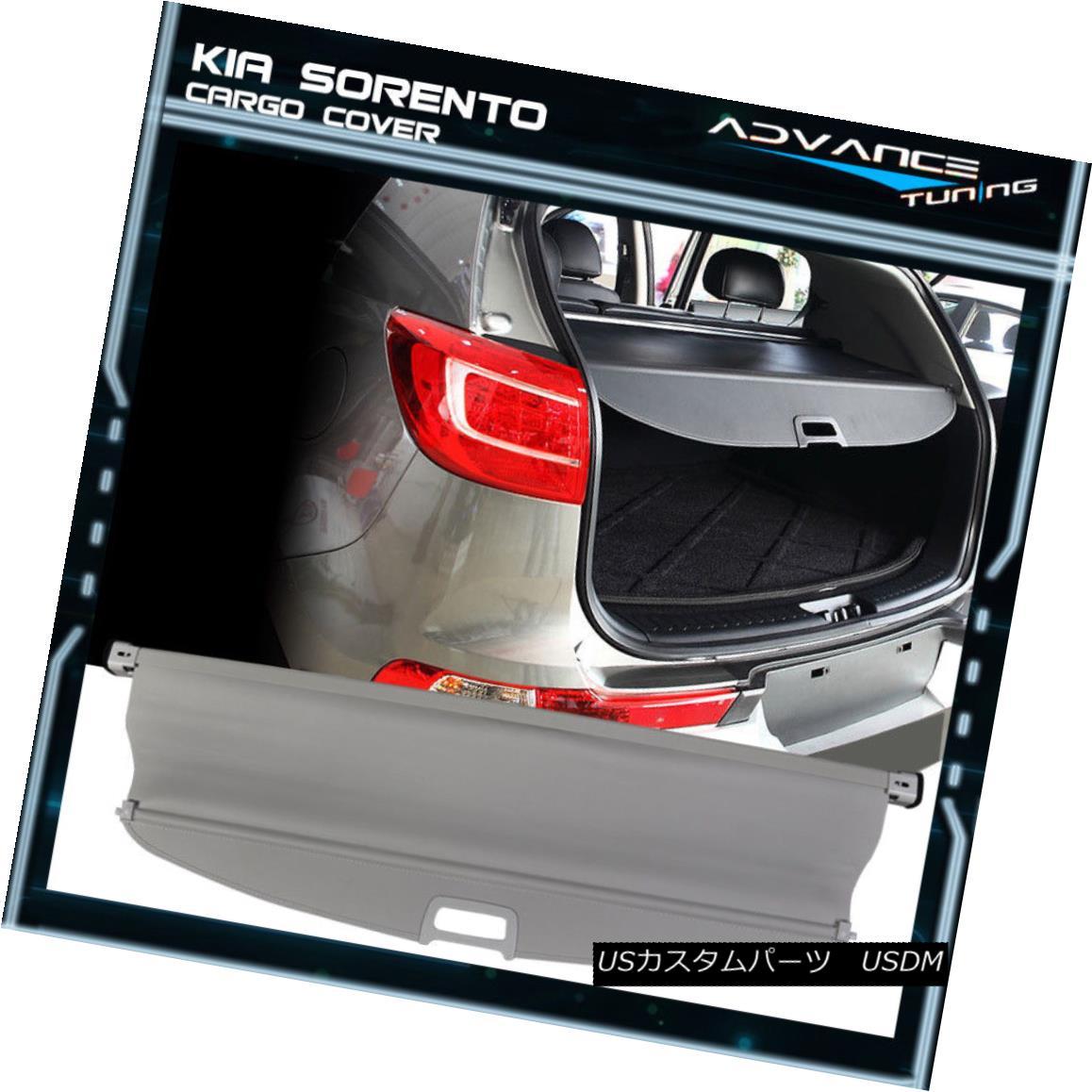 エアロパーツ Fit For 11-15 Kia Sorento OE Factory Style Retractable Rear Cargo Security Cover 11?15キアソレントOE工場スタイルのリトラクタブル後部貨物セキュリティカバーに適合