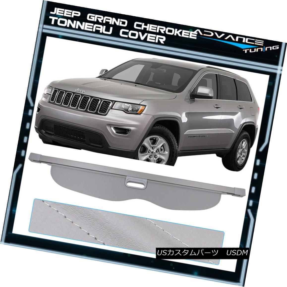 エアロパーツ For 11-17 Jeep Grand Cherokee Grey Tonneau Cover Rear Cargo Cover - Urethane 11-17ジープグランドチェロキーグレートノーカバーリアーカーゴカバー - ウレタン