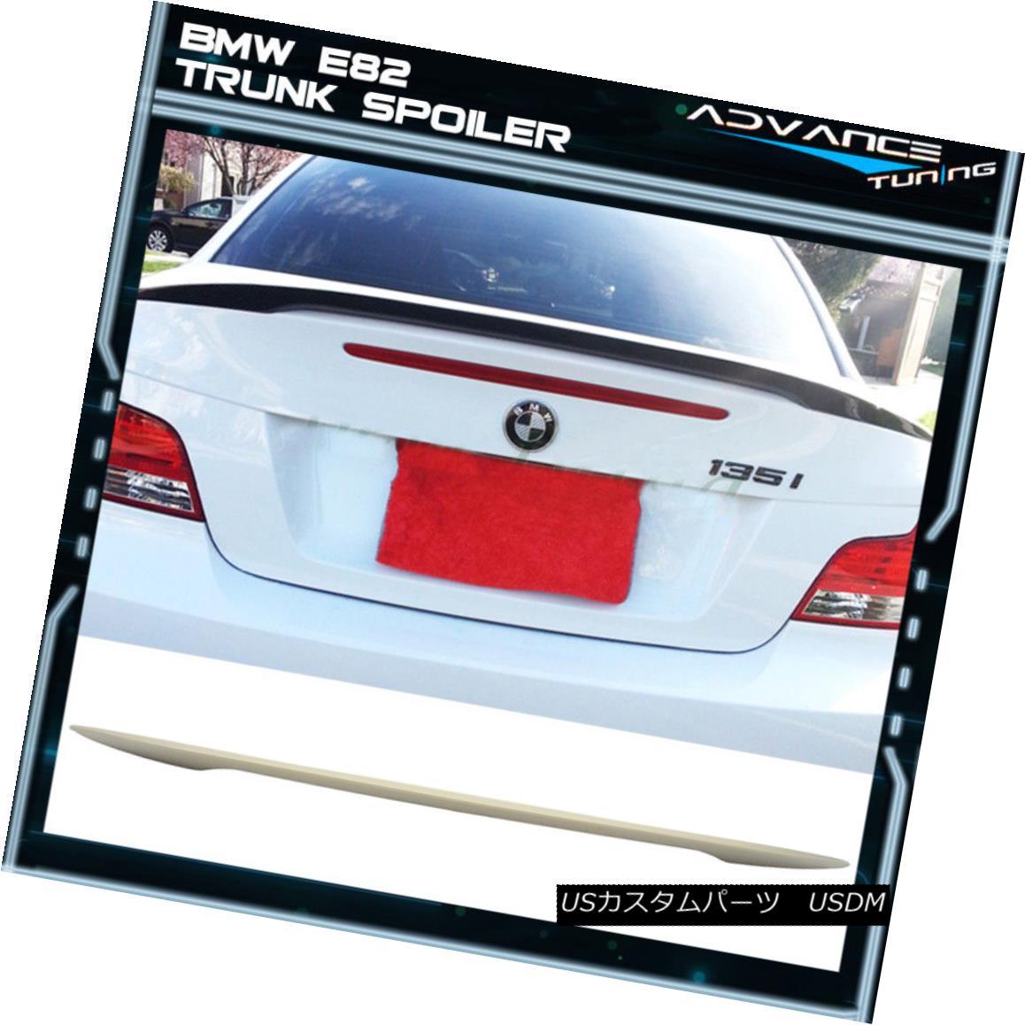 エアロパーツ Fit 07-13 BMW 1-Series E82 Coupe P Rear Trunk Spoiler Wing ABS フィット07-13 BMW 1シリーズE82クーペPリアトランクスポイラーウィングABS