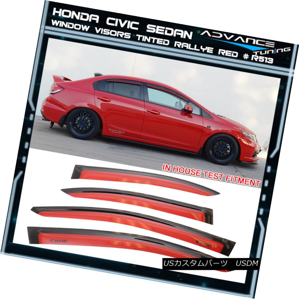 Fits 2001-2005 Honda Civic 2 Door Painted OE Sty Spoiler Wing Rallye Red R513