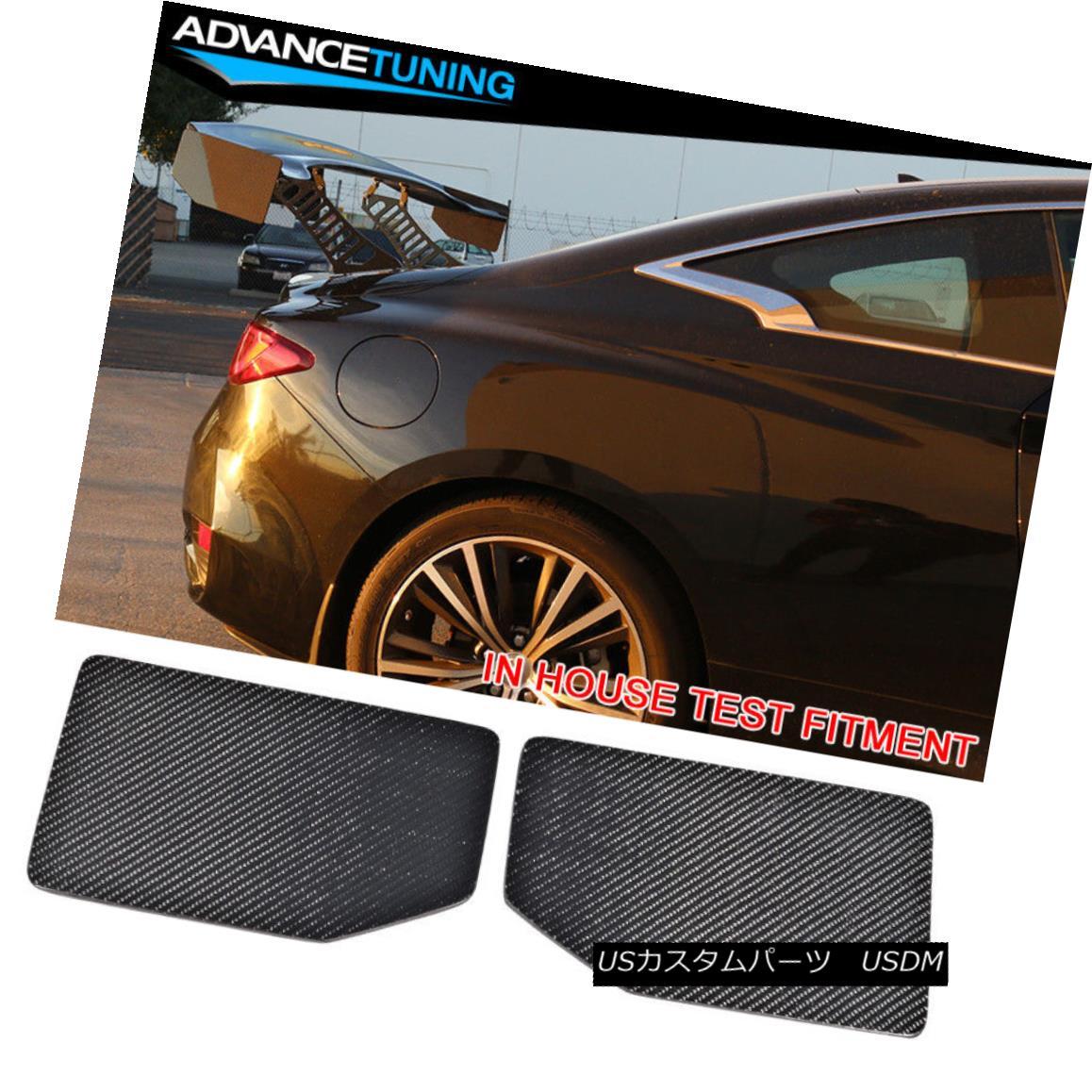 エアロパーツ V1 Style Universal GT Trunk Spoiler Wing Side Plate Add On Carbon Fiber CF V1スタイルユニバーサルGTトランク・スポイラーウイングサイド・プレートに炭素繊維CFを追加