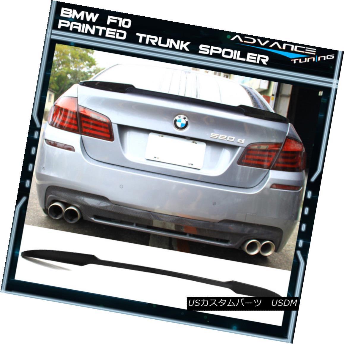 エアロパーツ 11-16 BMW F10 5-Series Sedan 4Dr M4 Style Trunk Spoiler Wing - Unpainted ABS 11-16 BMW F10 5シリーズセダン4Dr M4スタイルトランクスポイラーウイング - 未塗装ABS