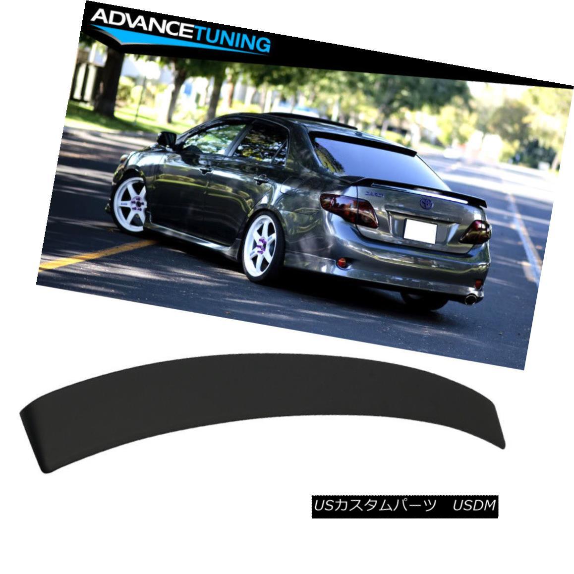 エアロパーツ Fits 09-13 Toyota Corolla Rear Roof Spoiler ABS Unpainted Black フィット09-13トヨタカローラリアルーフスポイラーABS未塗装ブラック