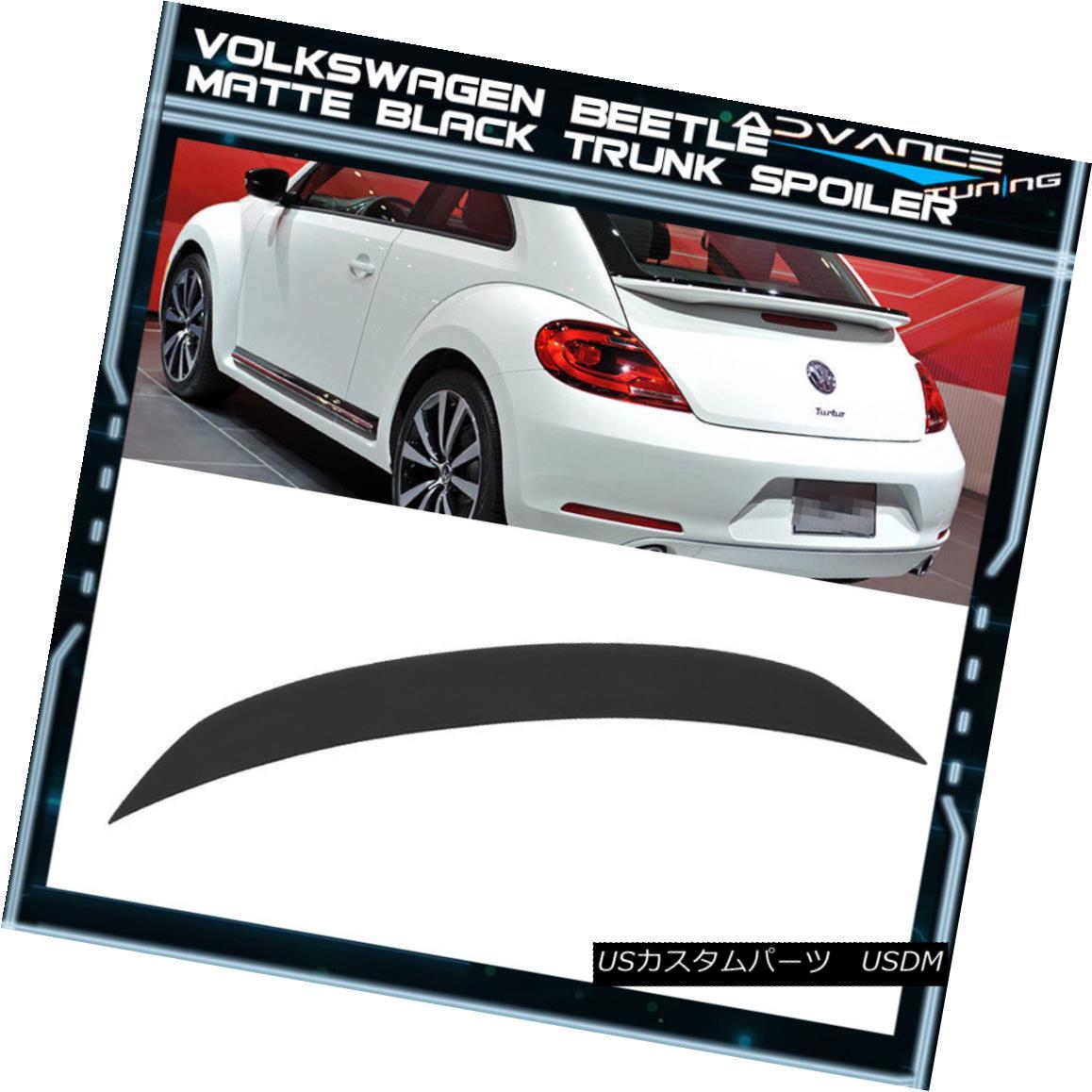 エアロパーツ Matte Black Fits 12-18 Volkswagen VW Beetle A5 HB OE Factory Style Trunk Spoiler マットブラックフィット12-18フォルクスワーゲンVWビートルA5 HB OE工場スタイルのトランク・スポイラー