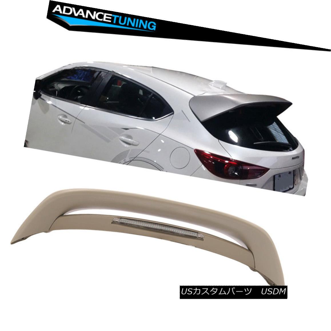エアロパーツ 14-17 Mazda 3 5Dr Hatchback MS Style Unpainted Trunk Spoiler Wing (ABS) 14-17マツダ3 5DrハッチバックMSスタイル無塗装トランク・スポイラー・ウィング(ABS)