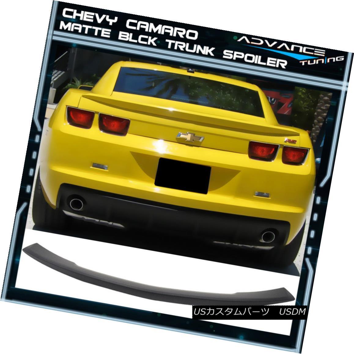 エアロパーツ Fits 10-13 Chevy Camaro OEM Factory Style Trunk Spoiler - Matte Black ABS フィット10-13シボレーカマロOEM工場スタイルのトランクスポイラー - マットブラックABS