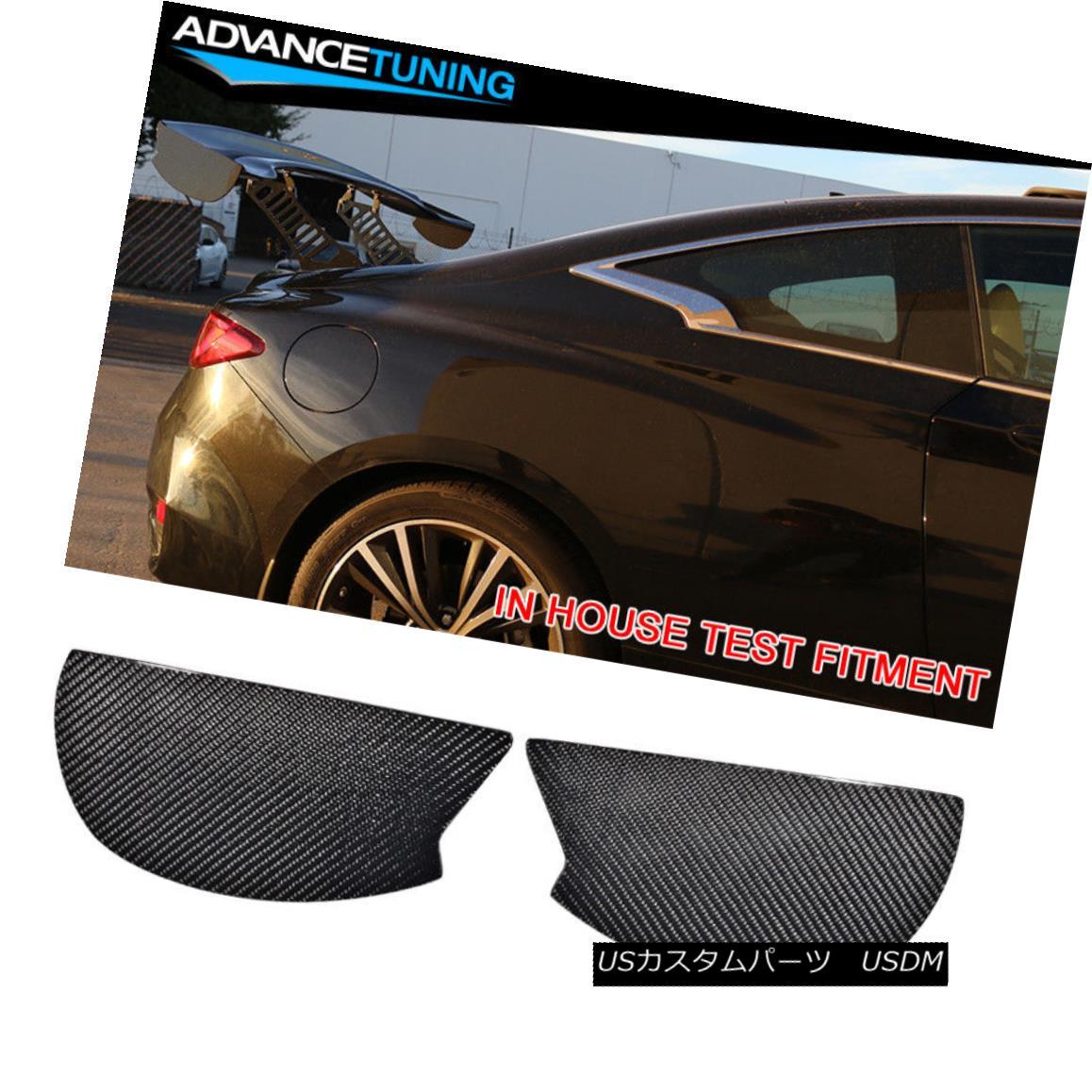 エアロパーツ V3 Style Universal GT Trunk Spoiler Wing Side Plate Add On Carbon Fiber CF V3スタイルユニバーサルGTトランク・スポイラーウイングサイド・プレートにカーボン・ファイバーCFを追加