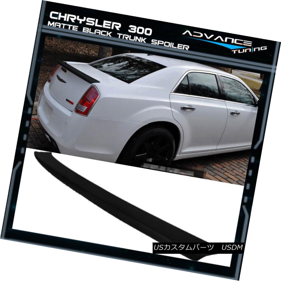 エアロパーツ Fits 11-18 Chrysler 300 300C ABS Trunk OE Style Wing Spoiler Painted Matte Black フィット11-18クライスラー300 300C ABSトランクOEスタイルウイングスポイラー塗装マットブラック