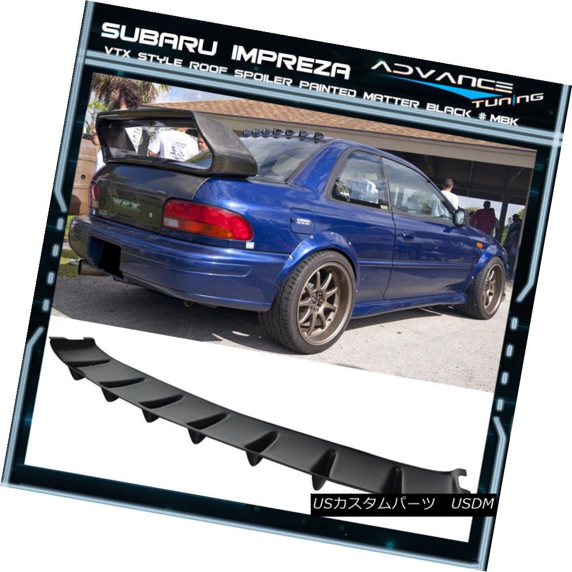 エアロパーツ Fit 93-01 Subaru Impreza VTX Vortex VG Style ABS Roof Fin Spoiler Matte Black フィット93-01スバルインプレッサVTXボルテックスVGスタイルABSルーフフィンスポイラーマットブラック