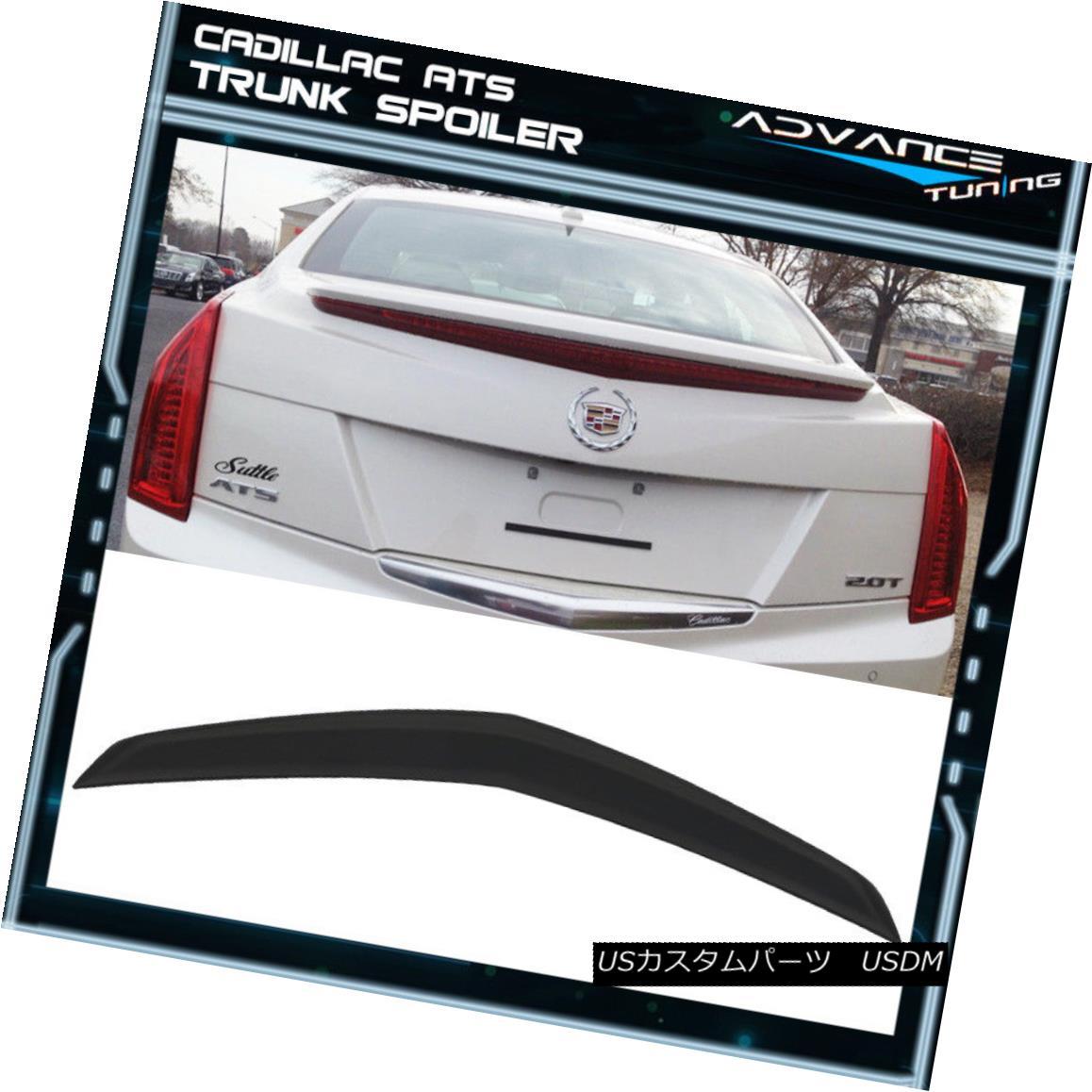 エアロパーツ Fits 13-18 Cadillac ATS OE Flush Mount Deck Trunk Spoiler Aero Wing Unpaint ABS フィット13-18キャデラックATS OEフラッシュマウントデッキトランクスポイラーエアロウイングUnpaint ABS