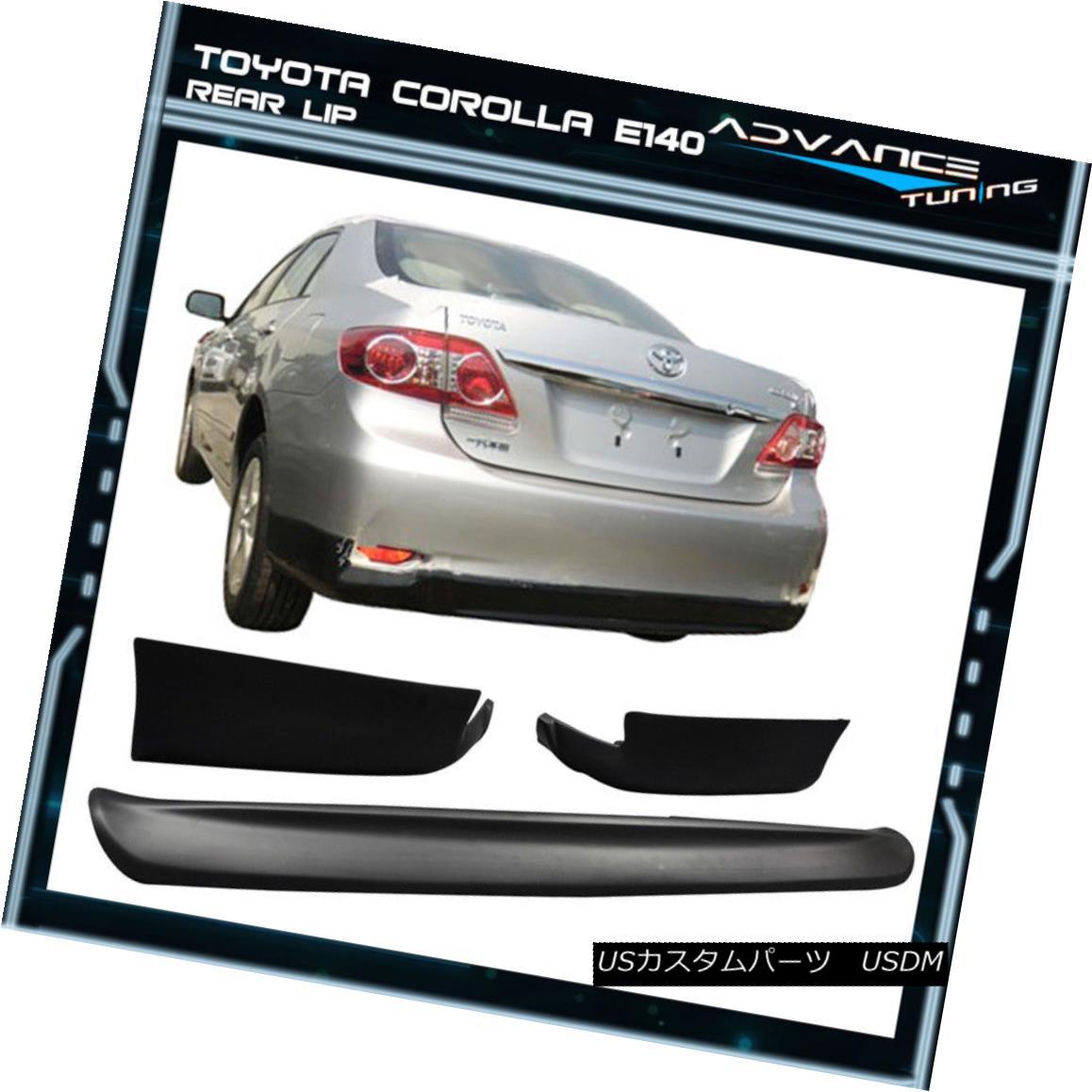 エアロパーツ For 11-13 E140 Toyota Corolla S 10 & 10.5 Gen PP Rear Bumper Lip Conversion 11-13 E140トヨタカローラS 10& 10.5 Gen PPリアバンパーリップ変換