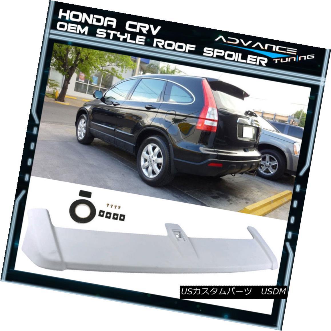 エアロパーツ 07-11 Honda CRV CR-V OE Factory Style Rear Roof Top Spoiler Unpainted ABS Wing 07-11ホンダCRV CR-V OE工場スタイルリアルーフトップスポイラー未塗装ABSウィング