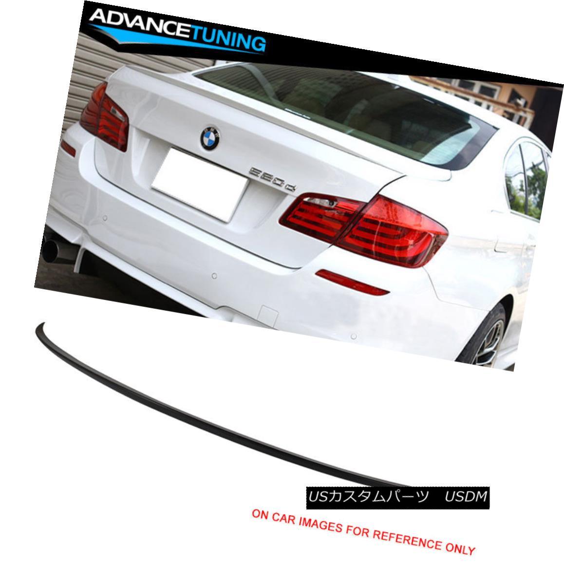 エアロパーツ 11-16 BMW 5-Series F10 4Dr 4Door Sedan M5 Unpainted ABS Rear Trunk Spoiler 11-16 BMW 5シリーズF10 4Dr 4ドアセダンM5未塗装ABSリアトランク・スポイラー