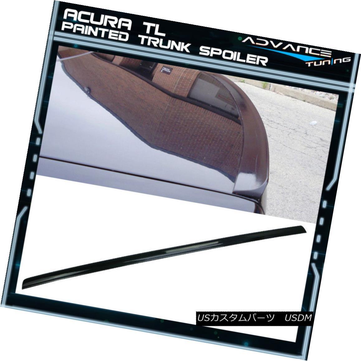 エアロパーツ 04-08 Acura TL UA6 UA7 Painted Black Trunk Spoiler - PUF 04-08アキュラTL UA6 UA7ペイントブラックトランク・スポイラー - PUF