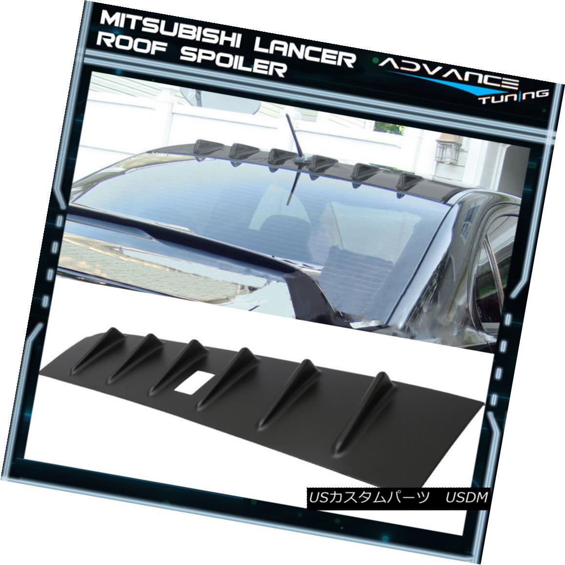 エアロパーツ For 08-16 Mitsubishi Lancer EVO X ABS Rear Roof Vortex Shark FIN Spoiler Wing 08-16三菱ランサーEVO X ABSリアルーフボルテックスシャークFINスポイラーウイング