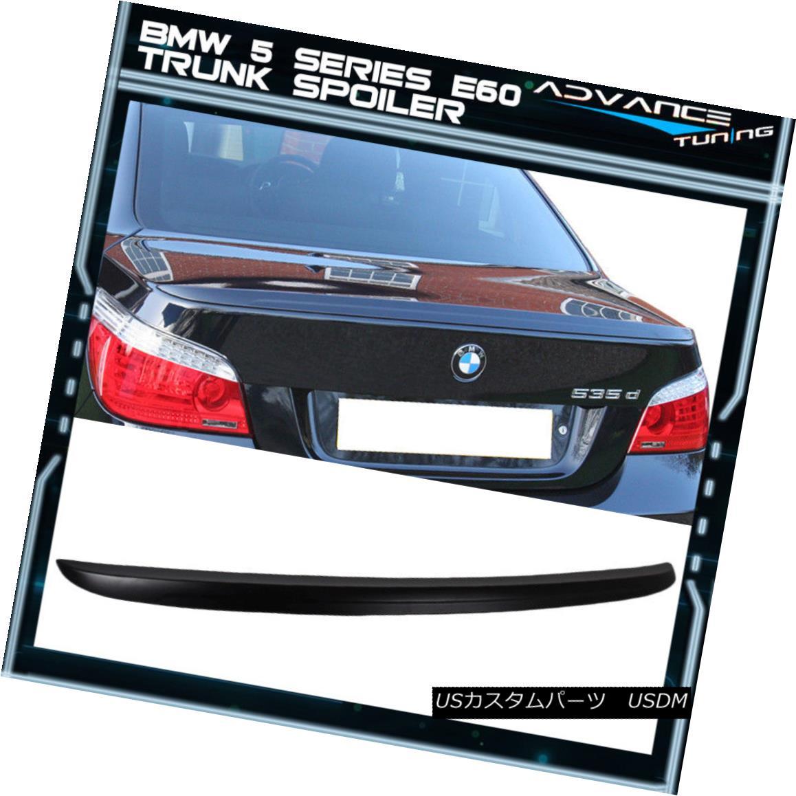 エアロパーツ Fit 04-10 BMW E60 5-Series Sedan M5 Style Trunk Spoiler Wing ABS フィット04-10 BMW E60 5シリーズセダンM5スタイルトランクスポイラーウィングABS