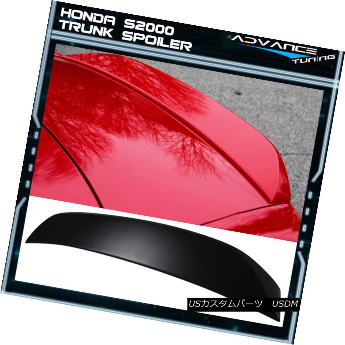 エアロパーツ 00-09 Honda S2000 S2K Convertible OE Unpainted ABS Rear Trunk Spoiler AP1 AP2 00-09ホンダS2000 S2KコンバーチブルOE未塗装ABSリアトランク・スポイラーAP1 AP2
