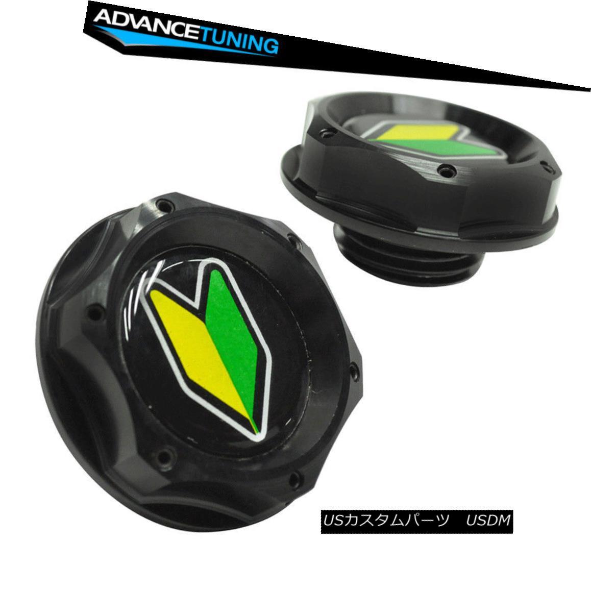 For HONDA ACURA BLACK TWIST ON ENGINE OIL FILLER CAP COVER+BD EMBLEM