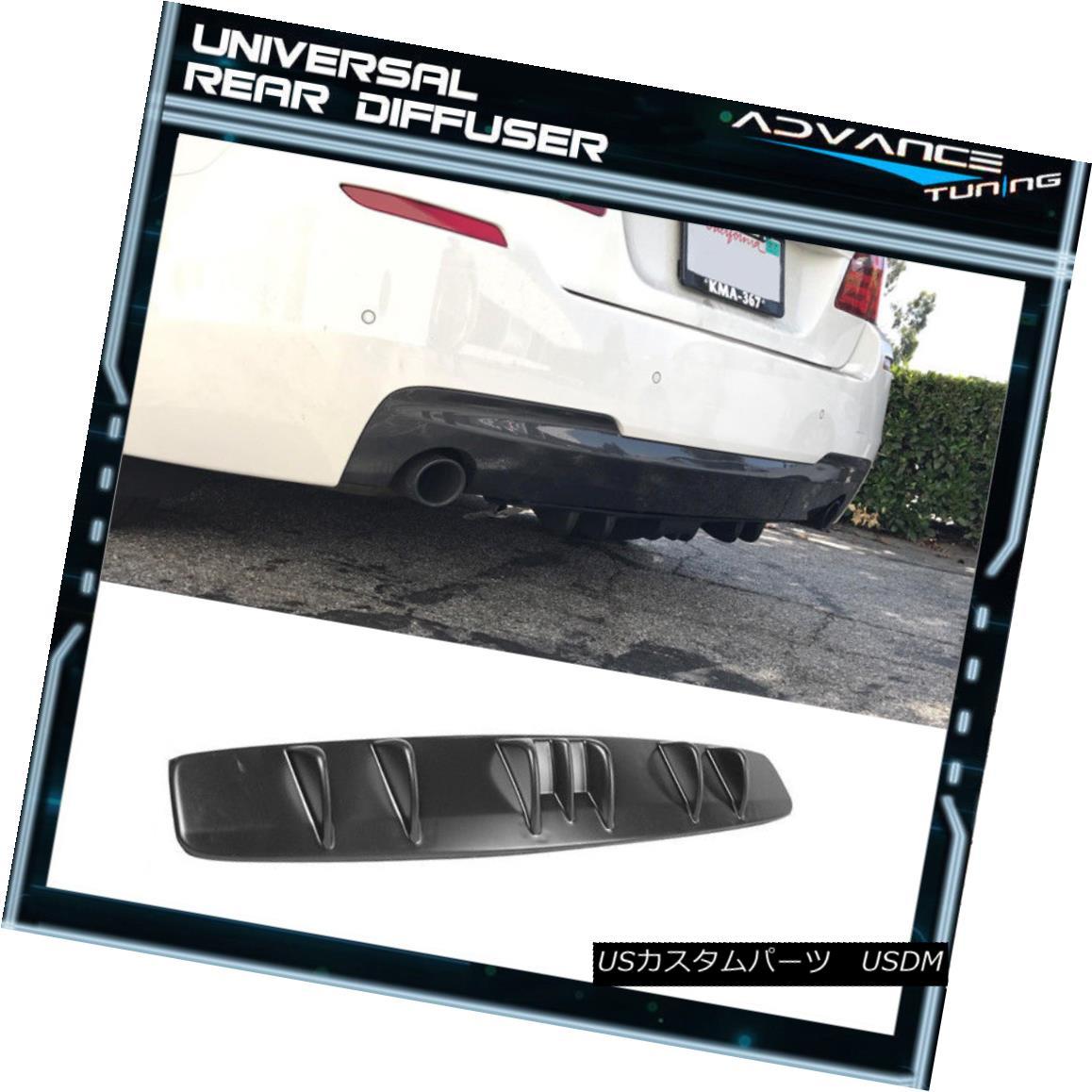 エアロパーツ Universal Fitment V5 Style Rear Bumper Diffuser Kit Unpainted Black ABS ユニバーサルフィッテントV5スタイルリアバンパーディフューザーキット未塗装ブラックABS