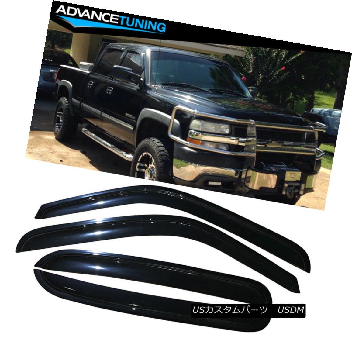 2020人気特価 エアロパーツ Fits 01-06 Chevy Silverado GMC Sierra Acrylic Window Visors 4Pc フィット01-06シボレーシルバラードGMCシエラアクリルウィンドウバイザー4Pc, セタカマチ 9dd64e35