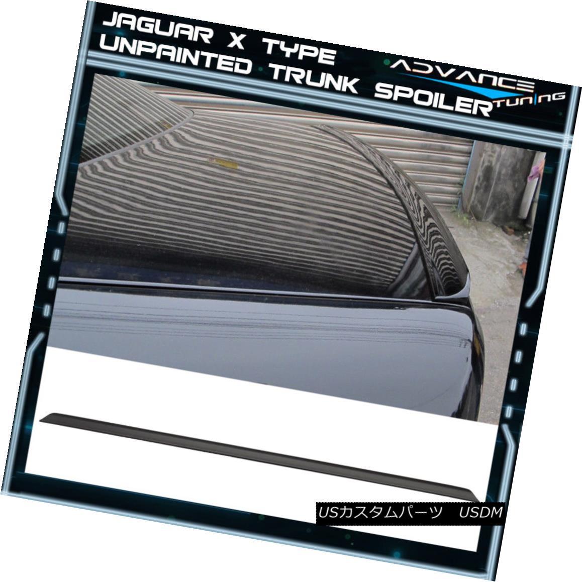 エアロパーツ 01-08 Jaguar X Type X400 PV Style Unpainted Black Trunk Spoiler - PUF 01-08ジャガーXタイプX400 PVスタイル無塗装ブラックトランクスポイラー - PUF
