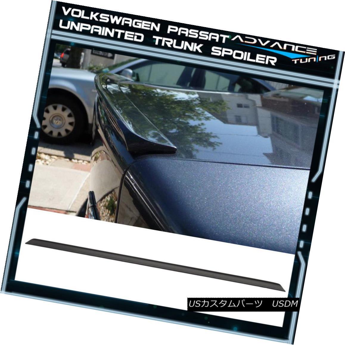 エアロパーツ 97-04 VW Volkswagen Passat B5 MK5 PV Style Unpainted Black Trunk Spoiler - PUF 97-04 VWフォルクスワーゲン・パサートB5 MK5 PVスタイル未塗装ブラック・トランク・スポイラー - PUF
