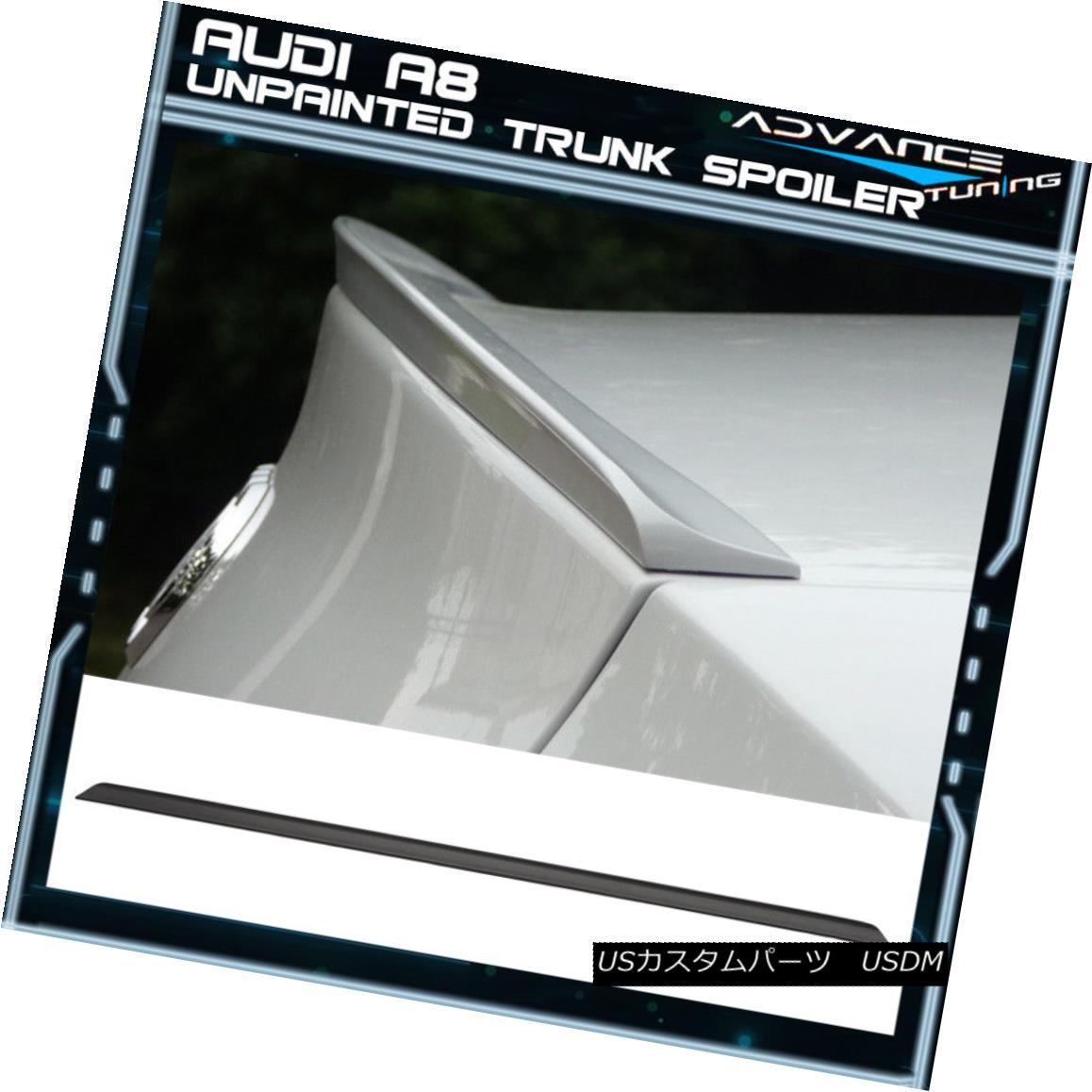 エアロパーツ 98-02 Audi A8 4Dr S Model PV Style Unpainted Black Trunk Spoiler - PUF 98-02アウディA8 4Dr SモデルPVスタイル未塗装ブラックトランク・スポイラー - PUF
