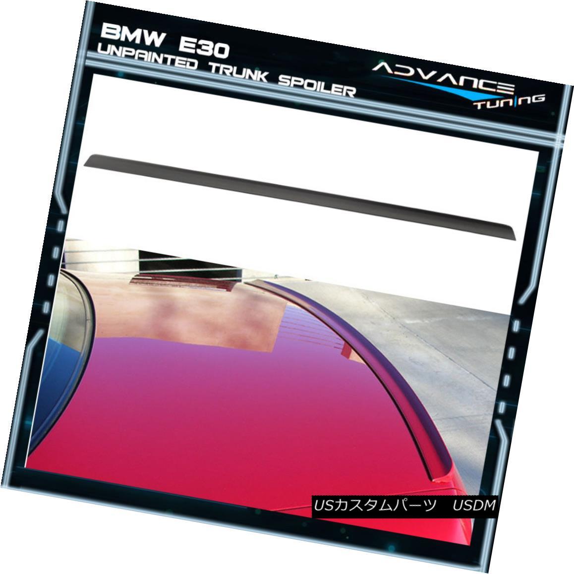 エアロパーツ 84-86 BMW 5 Series E30 PV Style Unpainted Black Trunk Spoiler - PUF 84-86 BMW 5シリーズE30 PVスタイル無塗装ブラックトランク・スポイラー - PUF