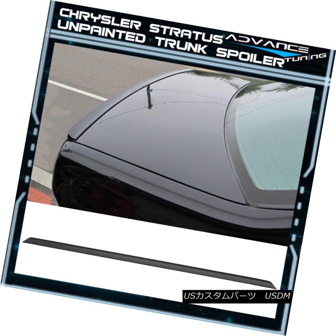 素晴らしい品質 エアロパーツ 95-00 Chrysler Stratus BJ PV Style Unpainted Black Trunk Spoiler - PUF 95-00クライスラーストラタスBJ PVスタイル未塗装ブラックトランク・スポイラー - PUF, HEART OF WINE 6b164524