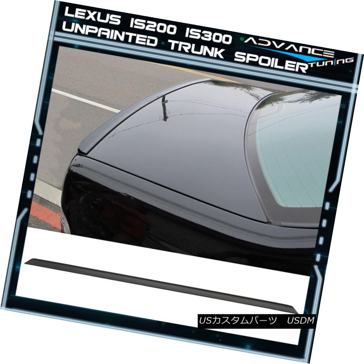 エアロパーツ Fits 98-05 Lexus IS250 350 IS300 XE10 PV Style Unpainted Black PUF Trunk Spoiler フィット98-05レクサスIS250 350 IS300 XE10 PVスタイル未塗装ブラックPUFトランク・スポイラー