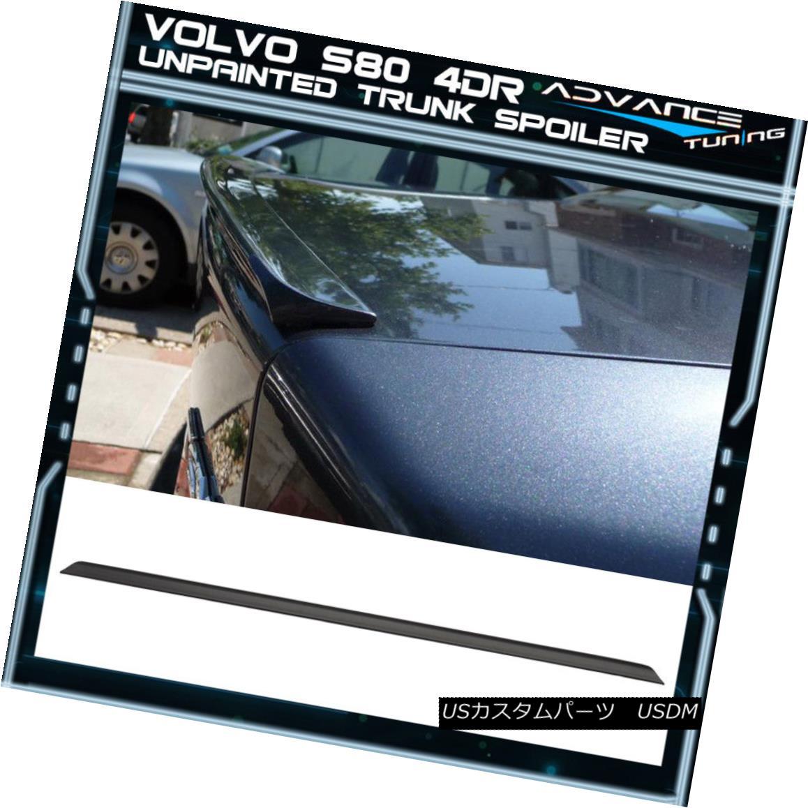 【半額】 エアロパーツ 07-12 Volvo S80 4Dr PV Style Unpainted Black Trunk Spoiler - PUF 07-12ボルボS80 4Dr PVスタイル未塗装ブラックトランク・スポイラー - PUF, 新星堂WonderGOO ccec37b0