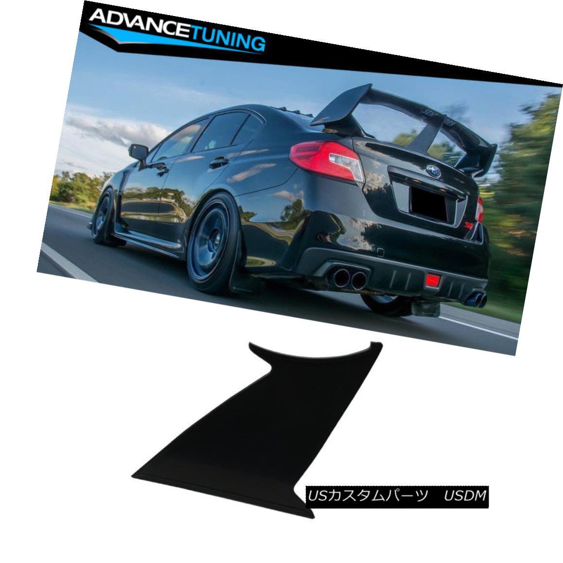 エアロパーツ 1PC Fits 15-18 Subaru WRX STI ABS Trunk Spoiler Wing Stabilizer Support Add On 1PC 15-18スバルWRX STI ABSトランク・スポイラーウィング・スタビライザー・サポートの追加