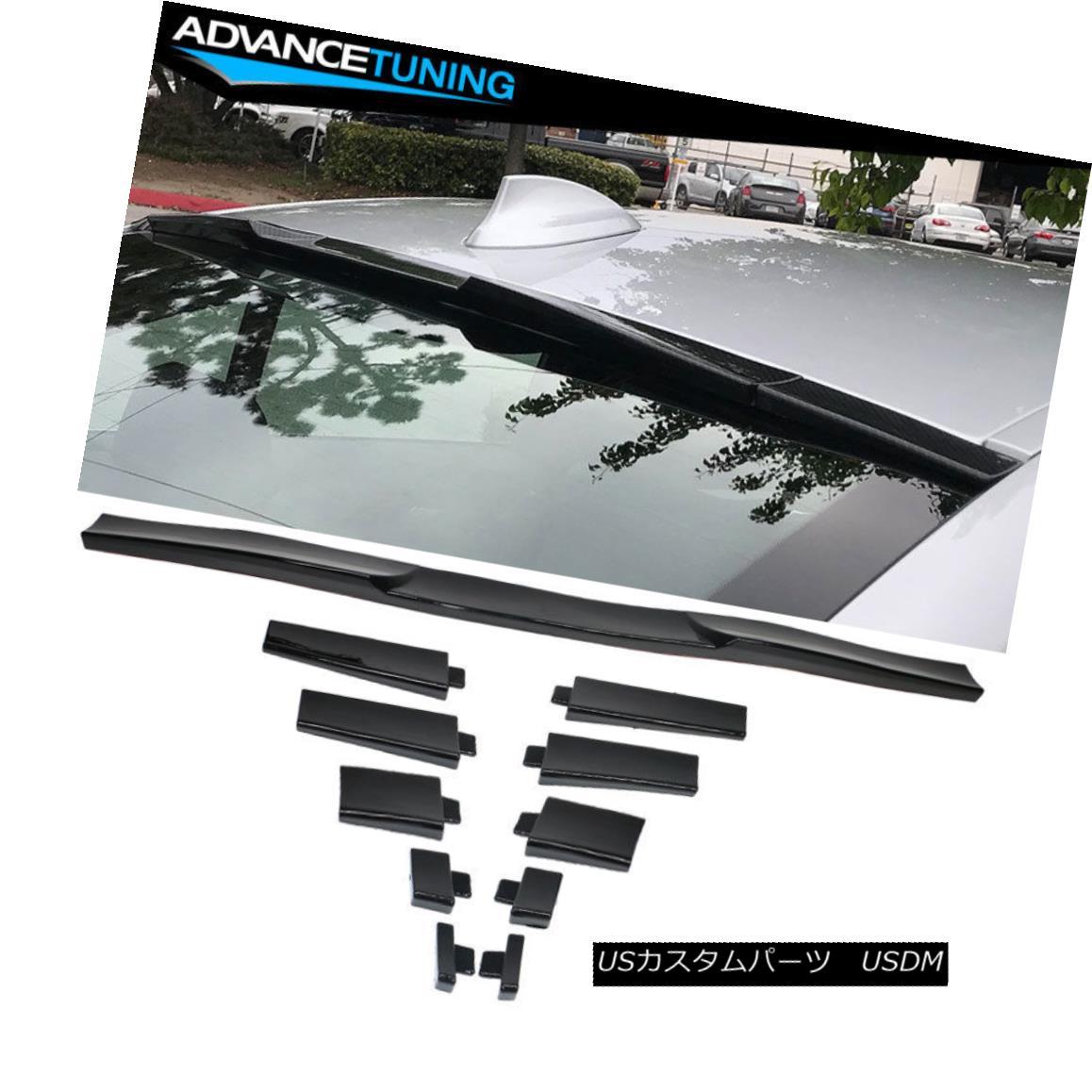 エアロパーツ Universal Fitment Roof Spoiler Trunk Spoiler Adjustable Glossy Black ユニバーサルフィッティングルーフスポイラートランク・スポイラー調節可能な光沢のある黒