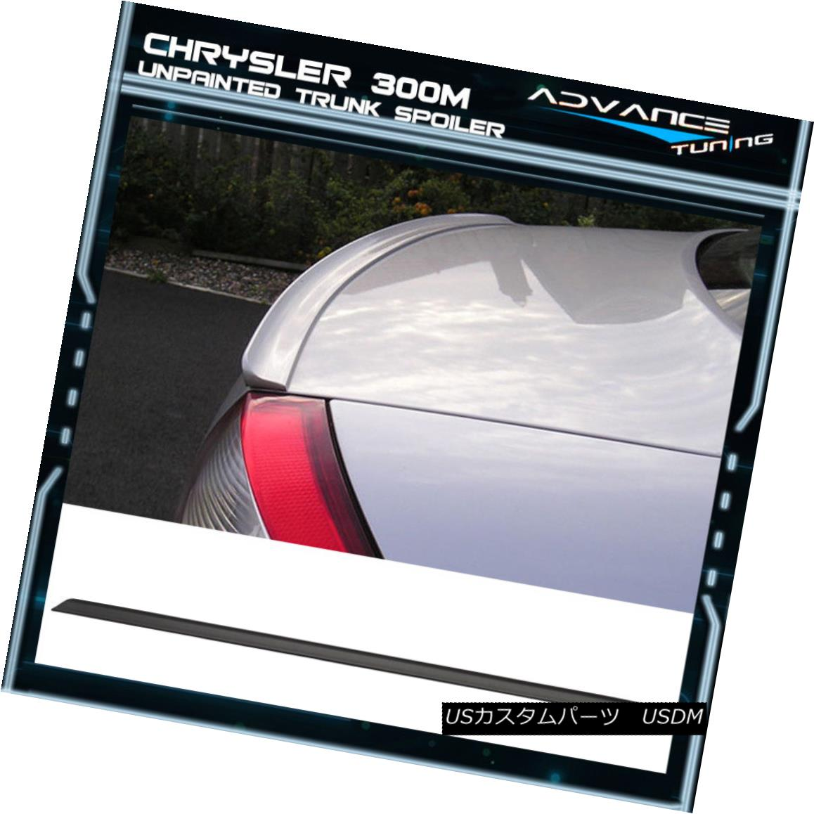 エアロパーツ 98-04 Chrysler 300M PV Style Unpainted Black Trunk Spoiler - PUF 98-04クライスラー300M PVスタイル未塗装ブラックトランク・スポイラー - PUF