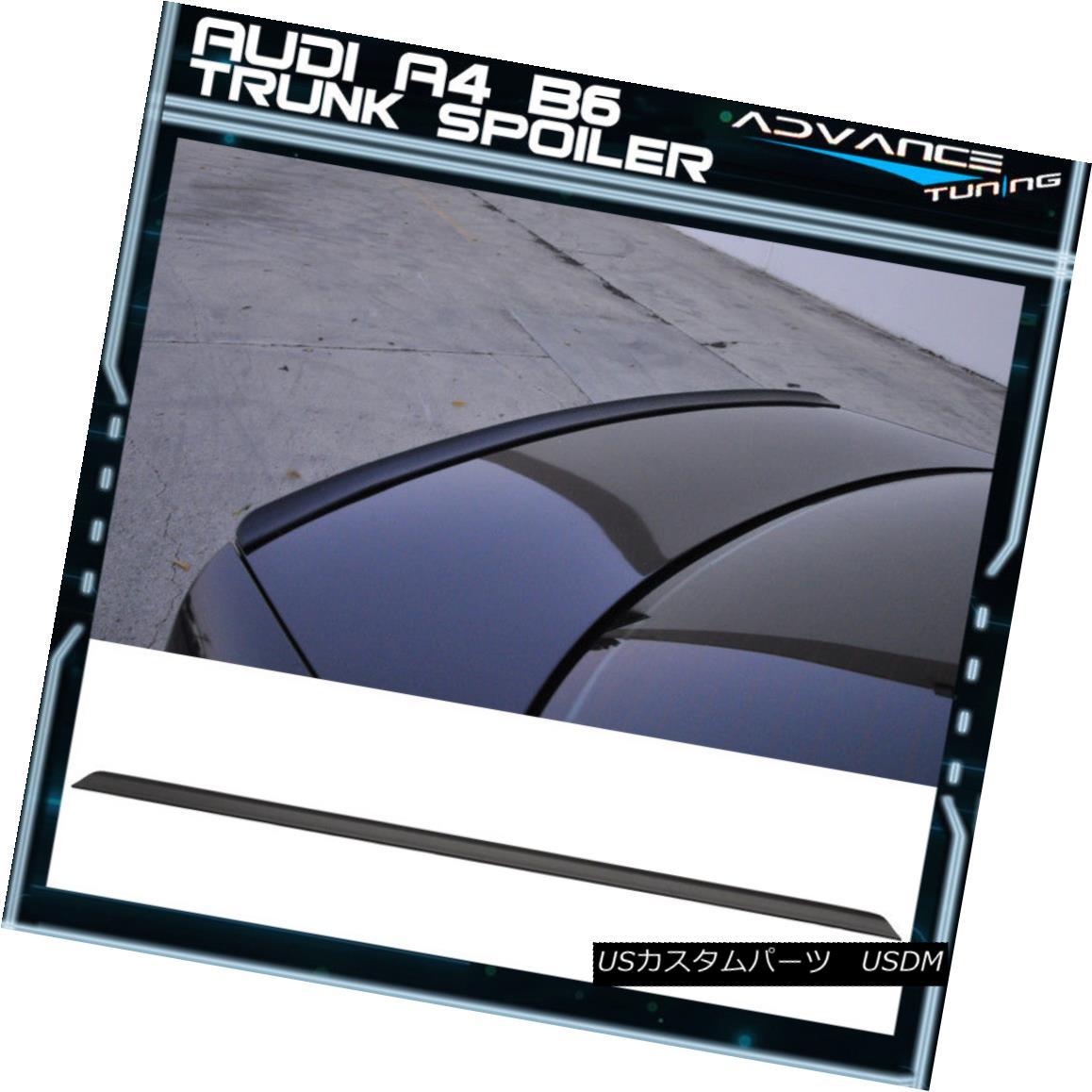 エアロパーツ 94-01 Audi A4 B6 PV Style Trunk Spoiler Unpainted - PUF 94-01 Audi A4 B6 PVスタイルトランク・スポイラー未塗装 - PUF