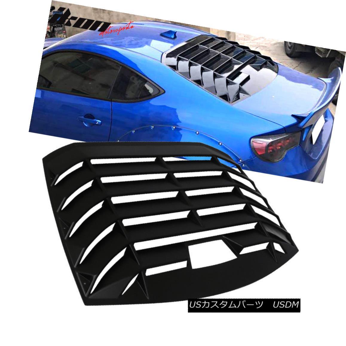 Ikonスタイルのリアウィンドウシールドルーバーアブ Scion 13-18 Frs Brz Louver For Shield Abs 13-18 Ikon エアロパーツ Window Subaru Brz Style Scion FrsのためにSubaru Rear