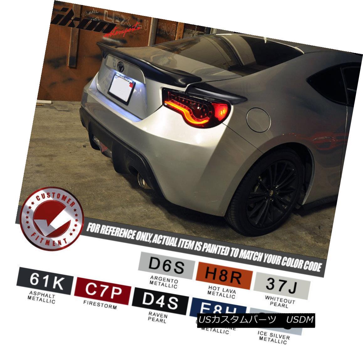 エアロパーツ Fits: 13-17 Scion FRS Subaru BRZ Paint Color JDM Trunk + Side Spoiler フィット:13-17サイオンFRSスバルBRZペイントカラーJDMトランク+サイドスポイラー