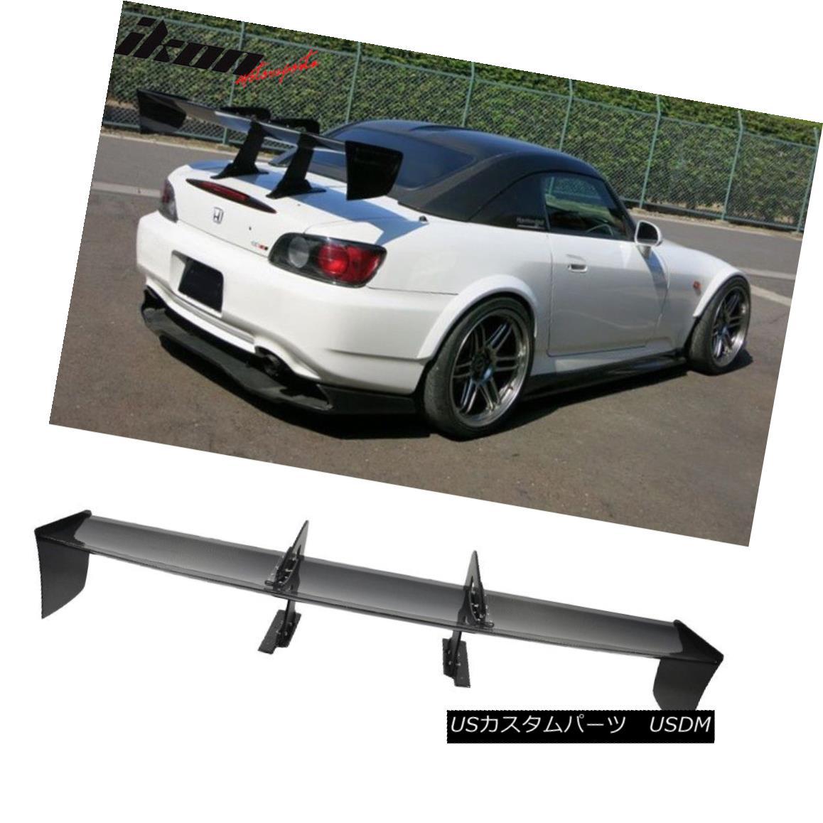 エアロパーツ 65 Inch Spoiler Universal JDM GT Style Wing Real Carbon Fiber CF Race Trunk 65インチ・スポイラーユニバーサルJDM GTスタイル・ウィング・リアルカーボンファイバーCFレーストランク