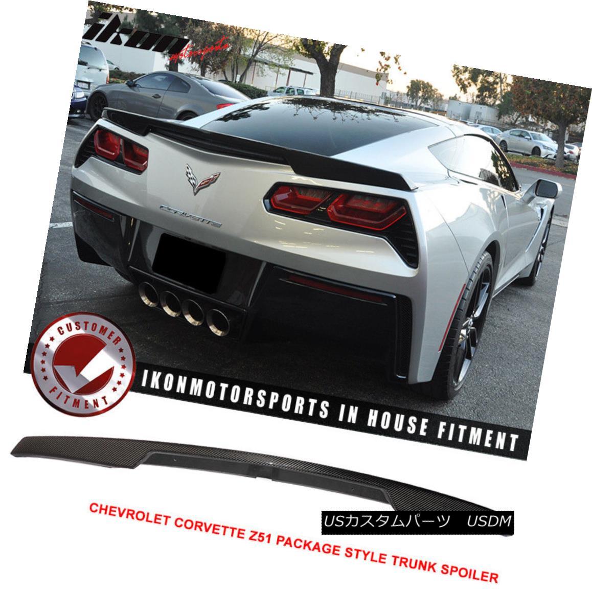 Trunk - Package エアロパーツ Carbon 14-18 C7 Corvette 14-18シボレーコルベットC7 - Z51パッケージスタイルトランクスポイラー カーボンファイバー Fiber Z51 Chevy Spoiler Style